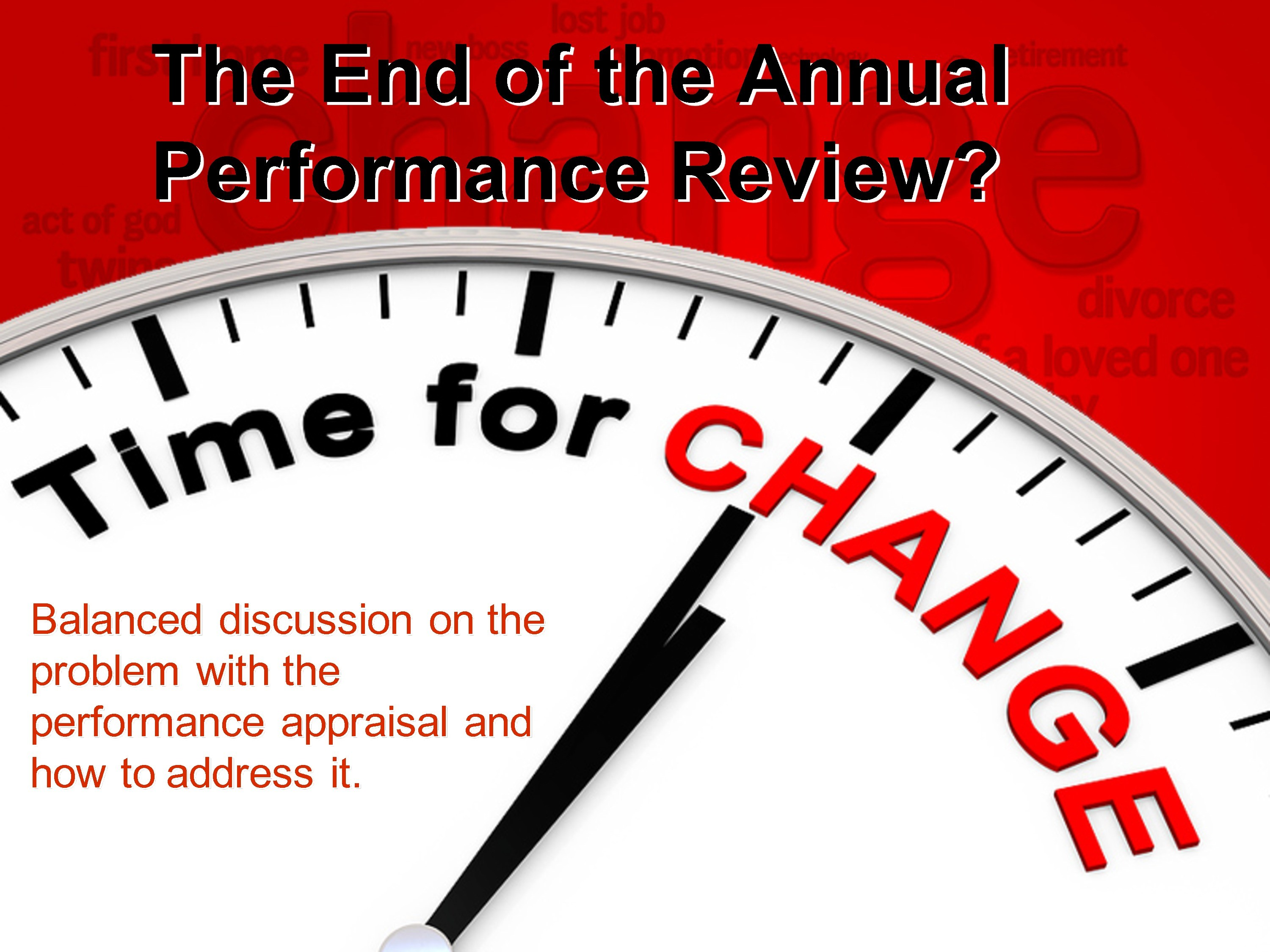 the end of the annual performance review