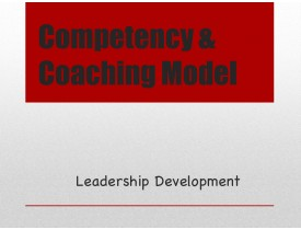 Competency & Coaching Model