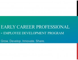 Early Career Professional  Development
