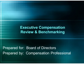 Executive Compensation Review & Benchmarking