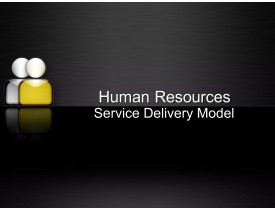 Human Resources Service Delivery Model