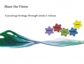 Share the Vision - Executing Strategy (Goals & Values)