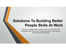 Building Better People Skills