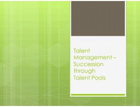 Talent Management - Succession through Talent Pools