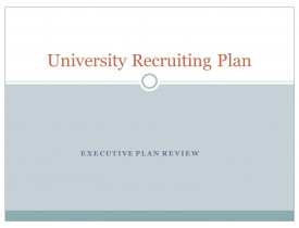 University Recruiting Plan