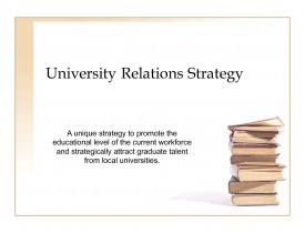 University Relations Strategy