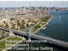 Individual Performance Management - The Power of Goal Setting