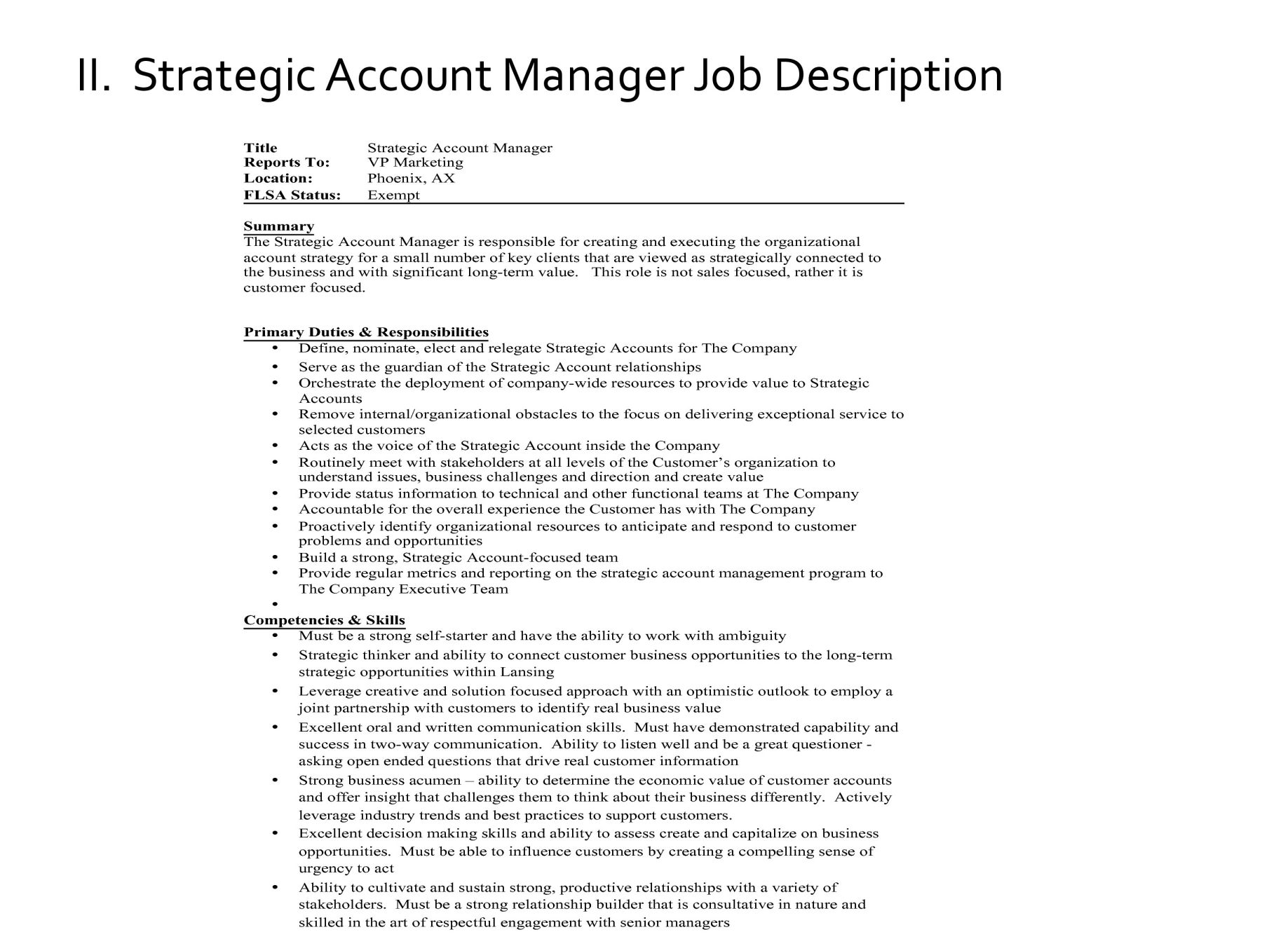 Executive Showcase  Account Management Job Description