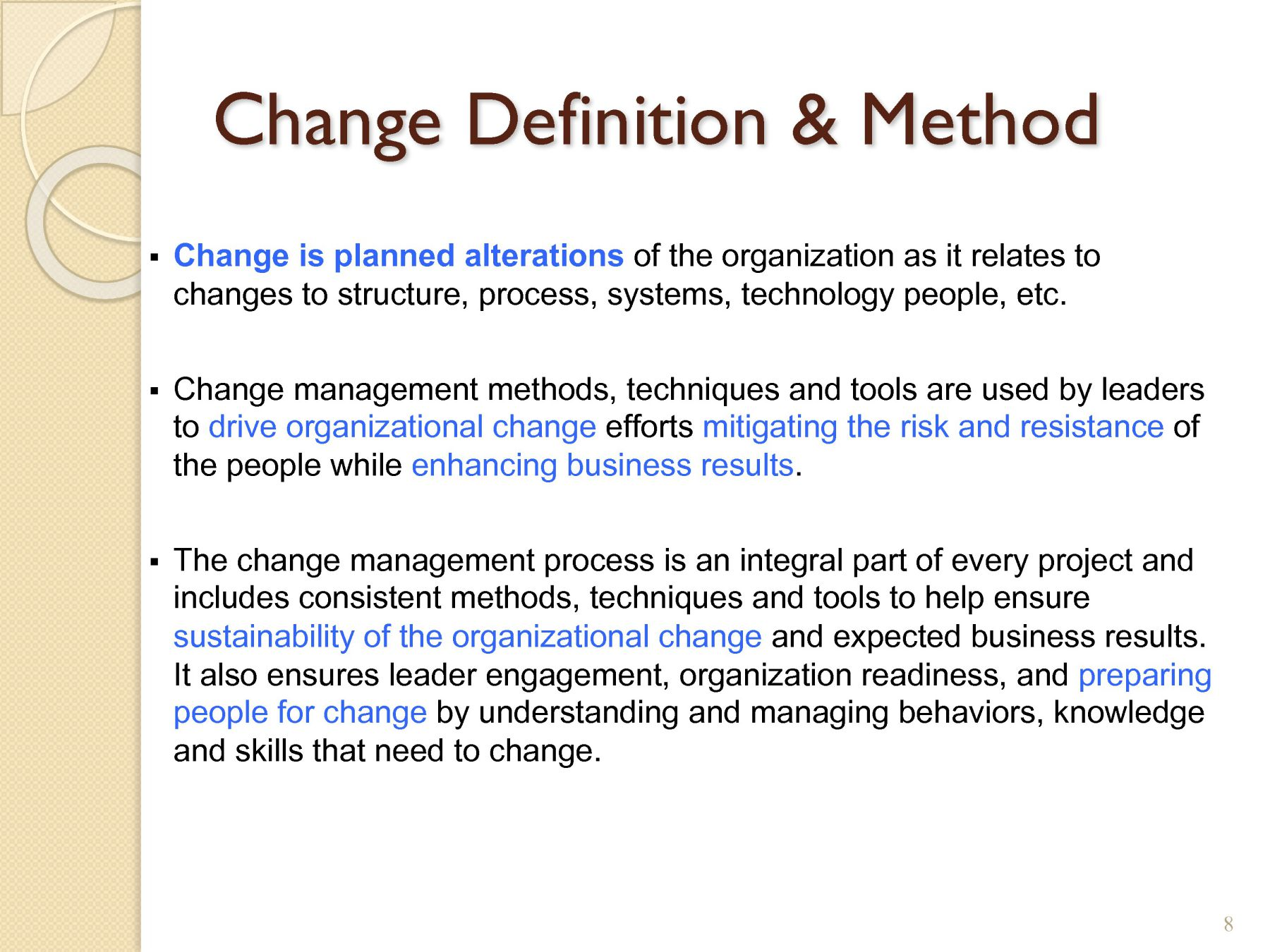 how to prepare for change in an organization
