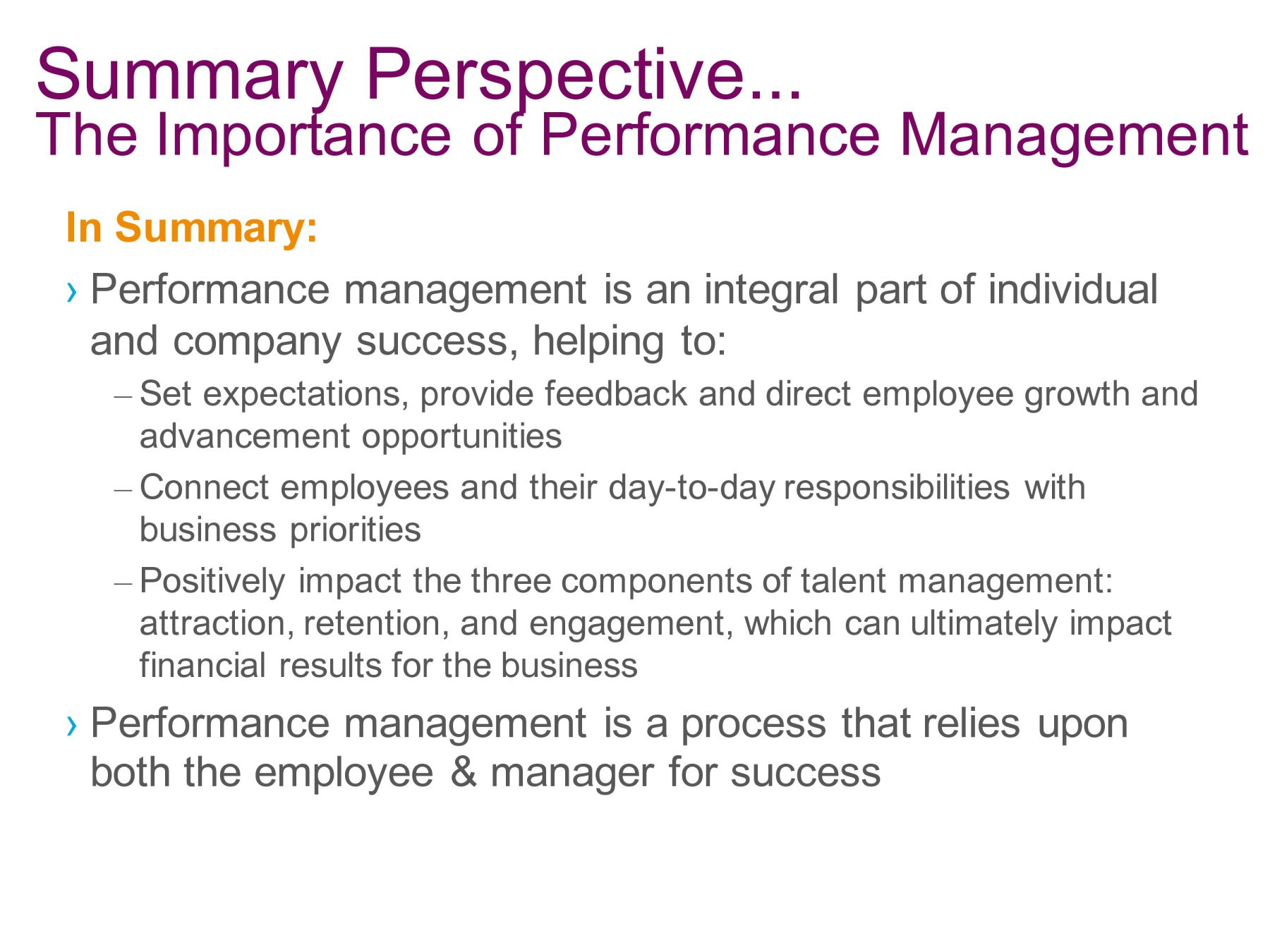 managing individual performance Managing performance cmi can help you get a quantifiable return on investment for your management and leadership development programmes by improving your organisation's productivity by up to 30% and increasing individual manager performance by over 20%.