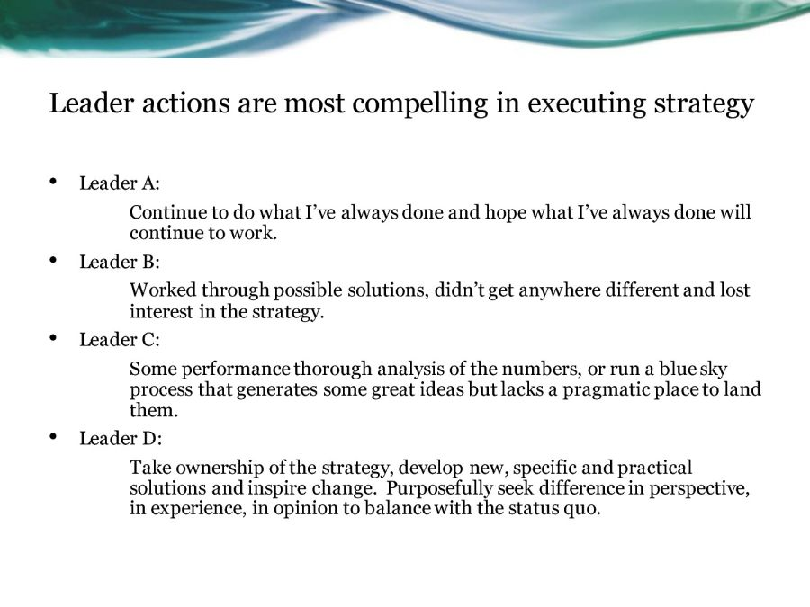 share the vision executing strategy goals u0026 values