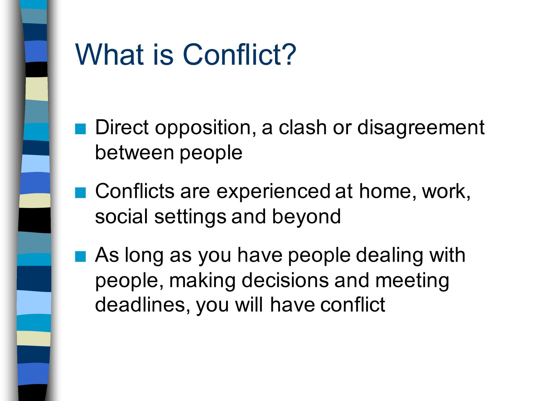 What is conflict 19